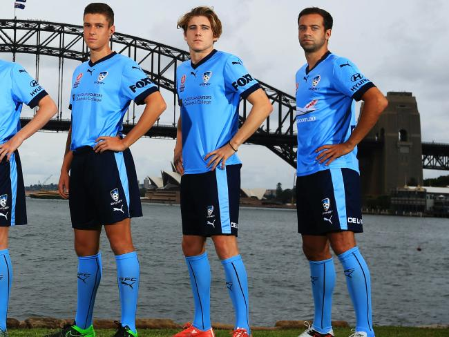 The kid on the left of this picture taken two years ago is now in the Socceroos' squad.