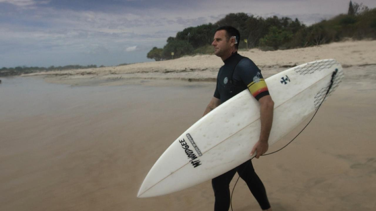 Only recently has King been able to surf with his implant in thanks to Cochlear technology.