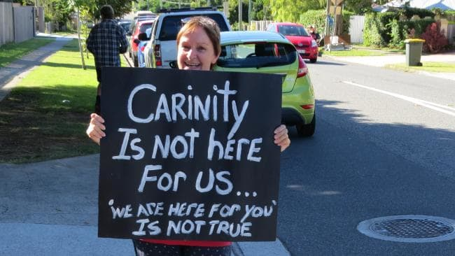 Teachers and support staff from Sunnybank's Carinity Education Southside will go on strike this morning to protest their employer's plan to cut working conditions and create a potential $8000 pay gap between their state and Catholic school counterparts. Photo: Kristy Muir