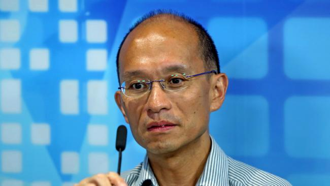 Hong Kong University mechanical engineering associate professor Cheung Kie-chung attends a radio program in Hong Kong. Picture: AP