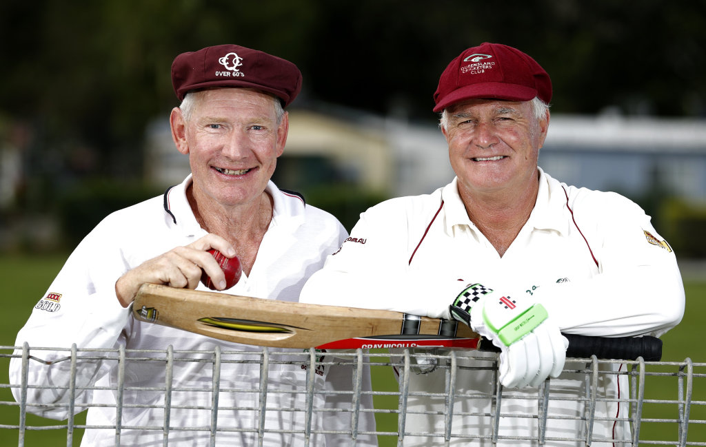 Image for sale: Two border Ian Petherick and David Russell have been selected to play for Australia in over-60s cricket matches against New Zealand. Picture: JERAD WILLIAMS