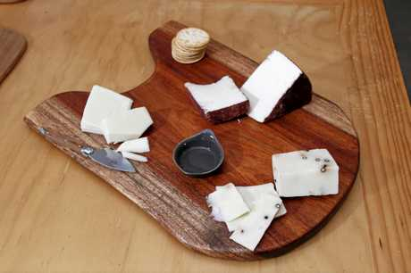 A selection of cheeses produced at the sheep cheesery.