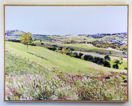 JENIE FAWCKNER:  Lazy Sunday  oil on canvas at Art Nuvo, Buderim.
