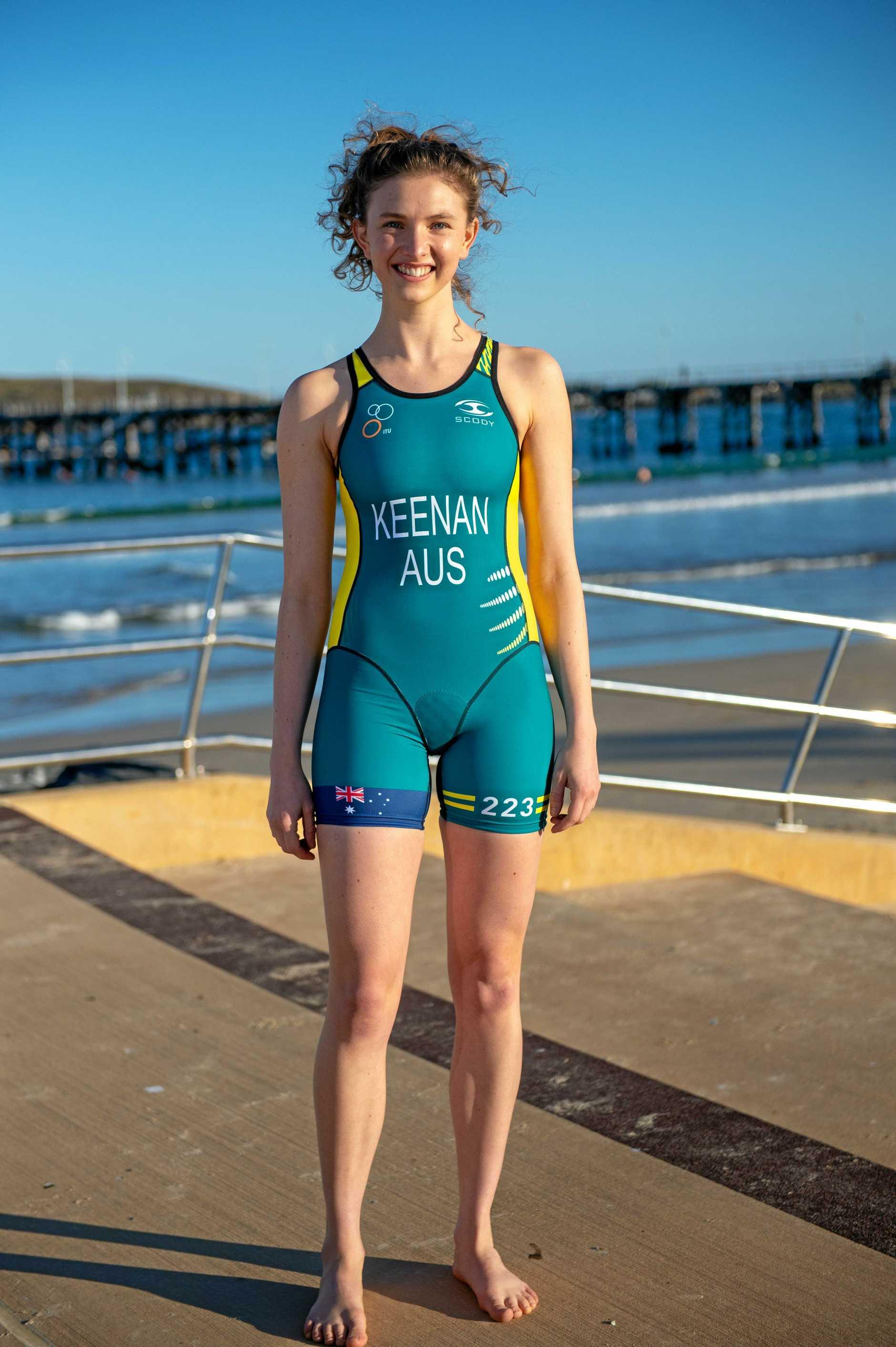 Coffs TRI team heading to Gold Coast for world titles., Sarah Keenan. 30 AUG 2018