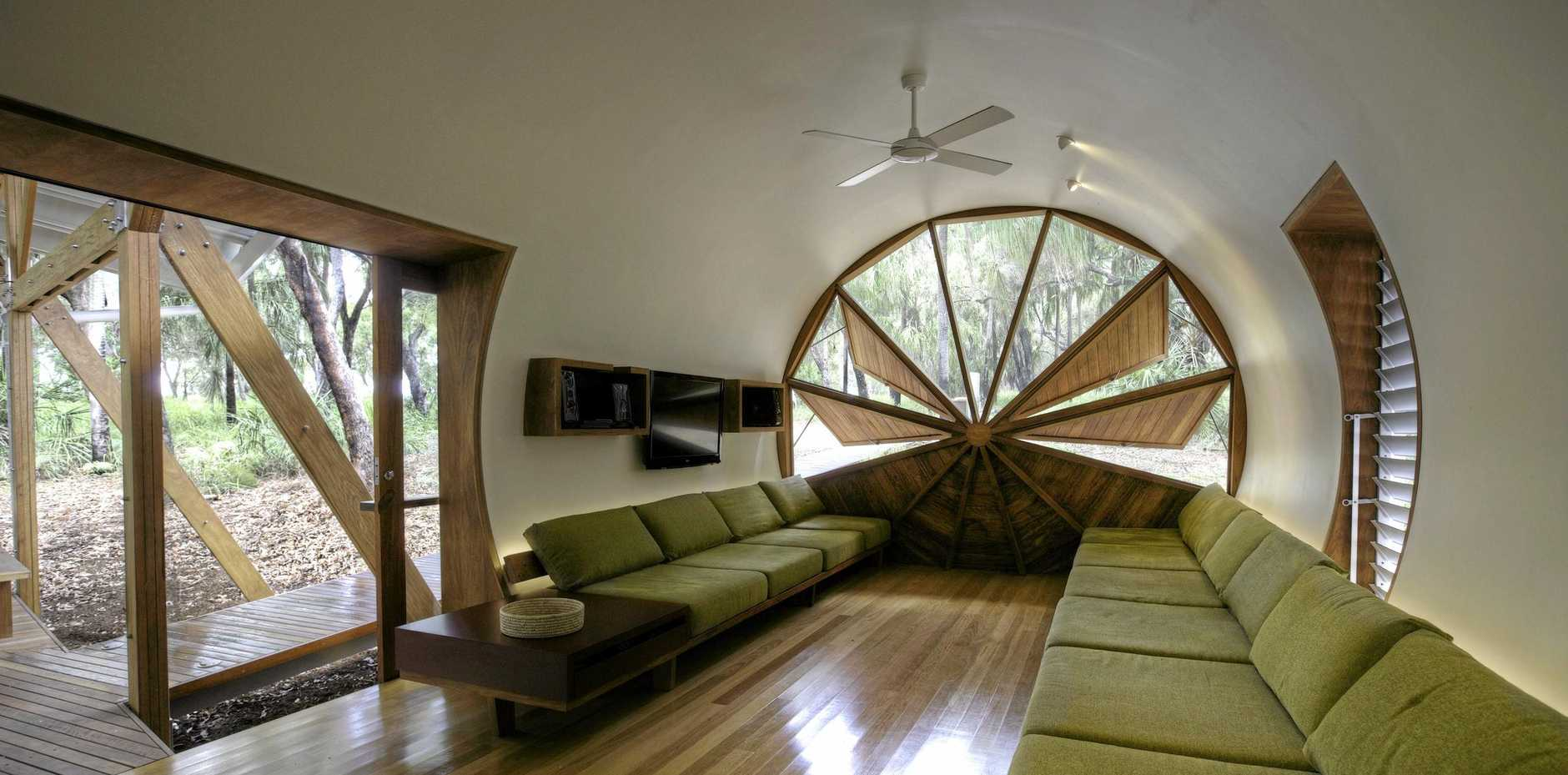 OUTSIDE IN: The Pods is a uniquely designed beach house set on an acre of pristine native forest.