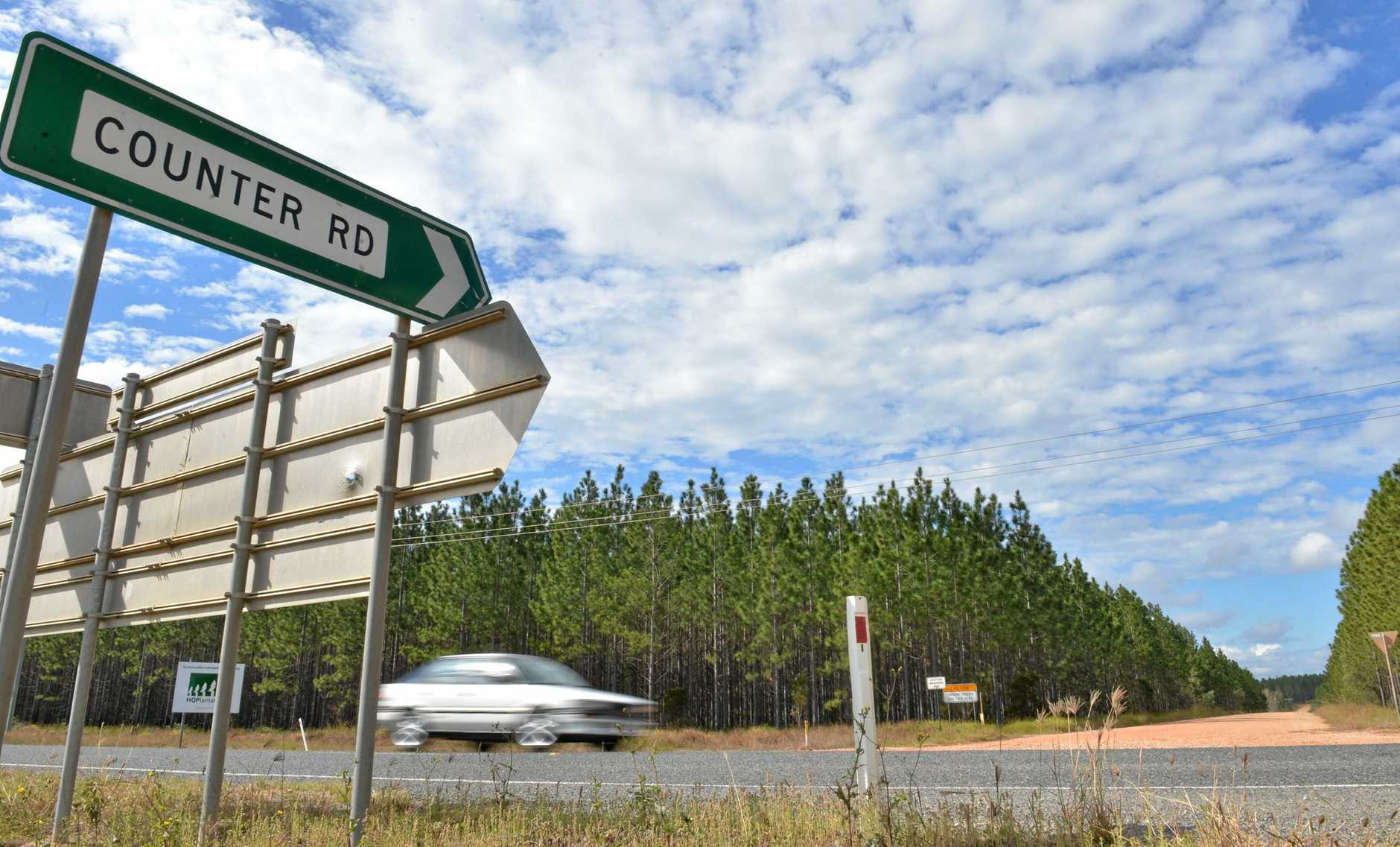 Counter rd intersection. Photo PatricK Woods / The Gympie Times