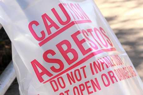 Asbestos surveillance in progress.