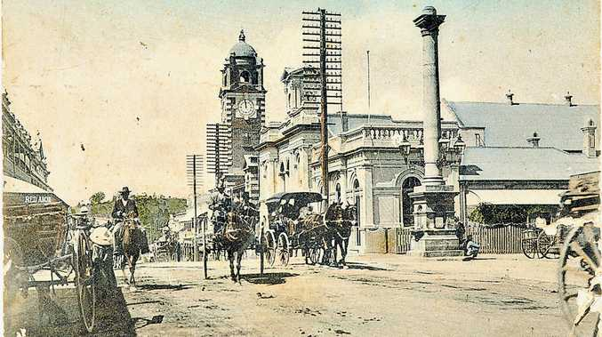 LOOKING BACK: Governor Blackall fountain at the corner of Brisbane & Nicholas steets, Ipswich.