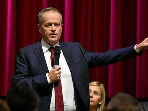 Bill Shorten in Rocky on Monday for town hall public meeting