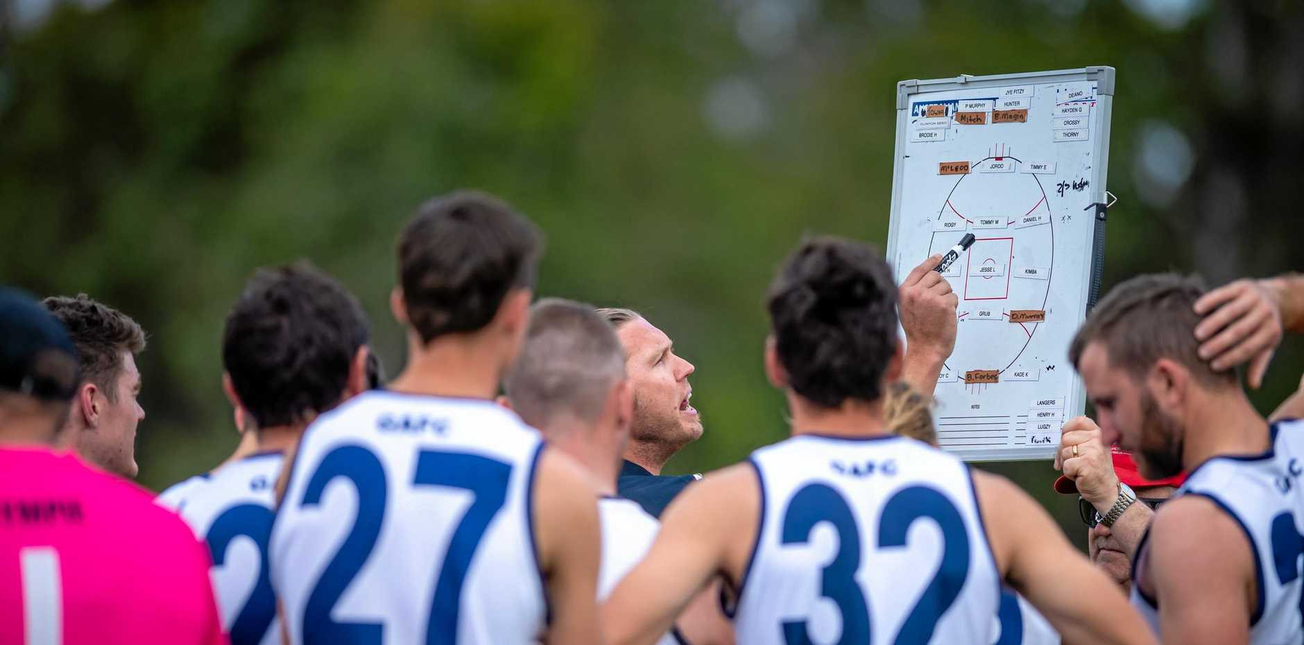 ONE MORE TO GO: Gympie Cats coach Courtney Findlay moulded players from two clubs into an AFL Wide Bay premiership force.