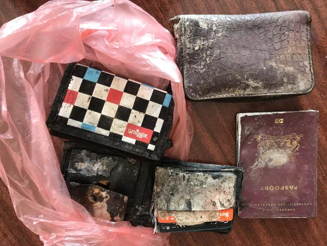 Some of the other items included two Dutch passports, two wallets containing bank cards and identification. Picture: Supplied to News Corp