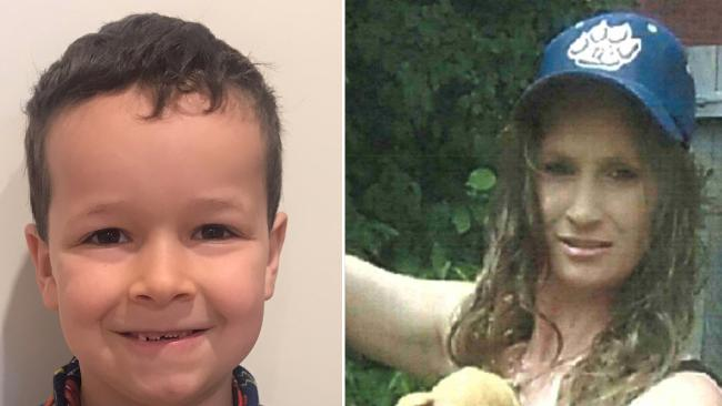 Phoenix Mapham and his mother Tessa Woodcock. Picture: AAP/ACT Policing