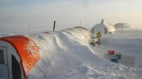 An AAD ice-core driilling camp. Picture: AAD