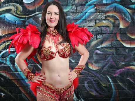 Chloe Parsonson is about to compete in a samba dance competition at the age of 42. Picture Rebecca Michael