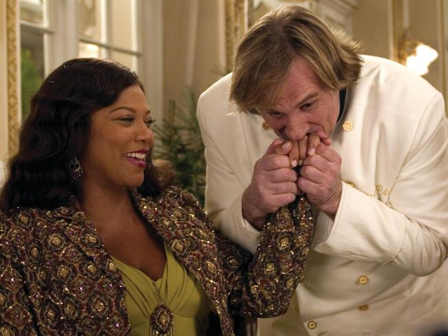 Queen Latifah with Gerard Depardieu. Picture: Suplied