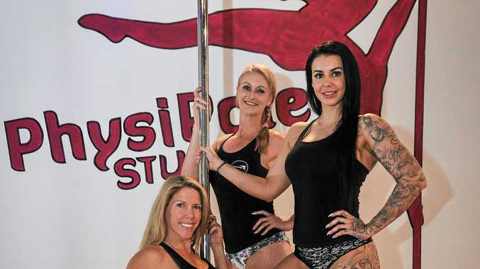 Robyn Peddlesden, Vicki McArthur and Khilea Sharp from Physipole Studios, Gladstone.