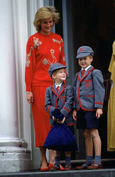 Despite her unhappy marriage Diana was a devoted mother to William and Harry. Picture: Tim Graham