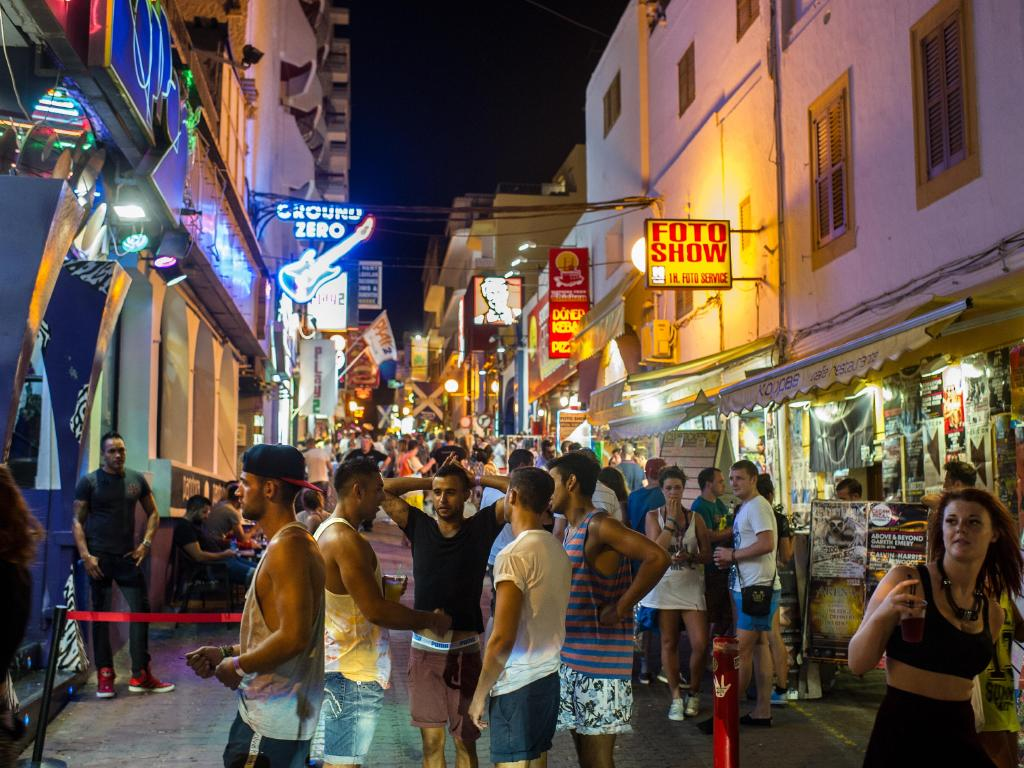 The West End district of San Antonio is especially popular with tourists at night. Picture: David Ramos/Getty Images