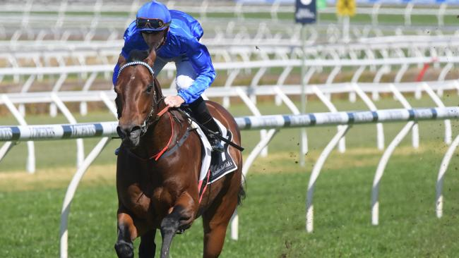 Business as usual for Hugh Bowman and Winx at Royal Randwick. Picture: AAP