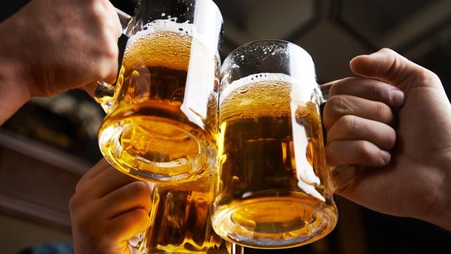 Excessive middle-aged drinkers risk setting a similar path for their kids as booze-related hospital admissions soar among older people. Picture: iStock