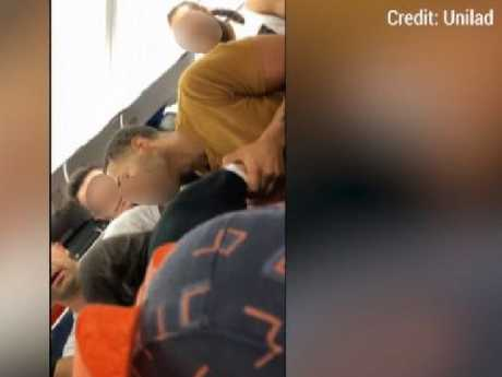 The fight that broke out on the plane.