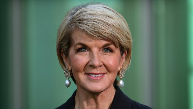 Julie Bishop holding a press conference at Parliament House, Canberra. Picture Kym Smith