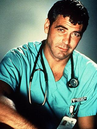 Actor George Clooney in TV Show ER. Picture: Supplied
