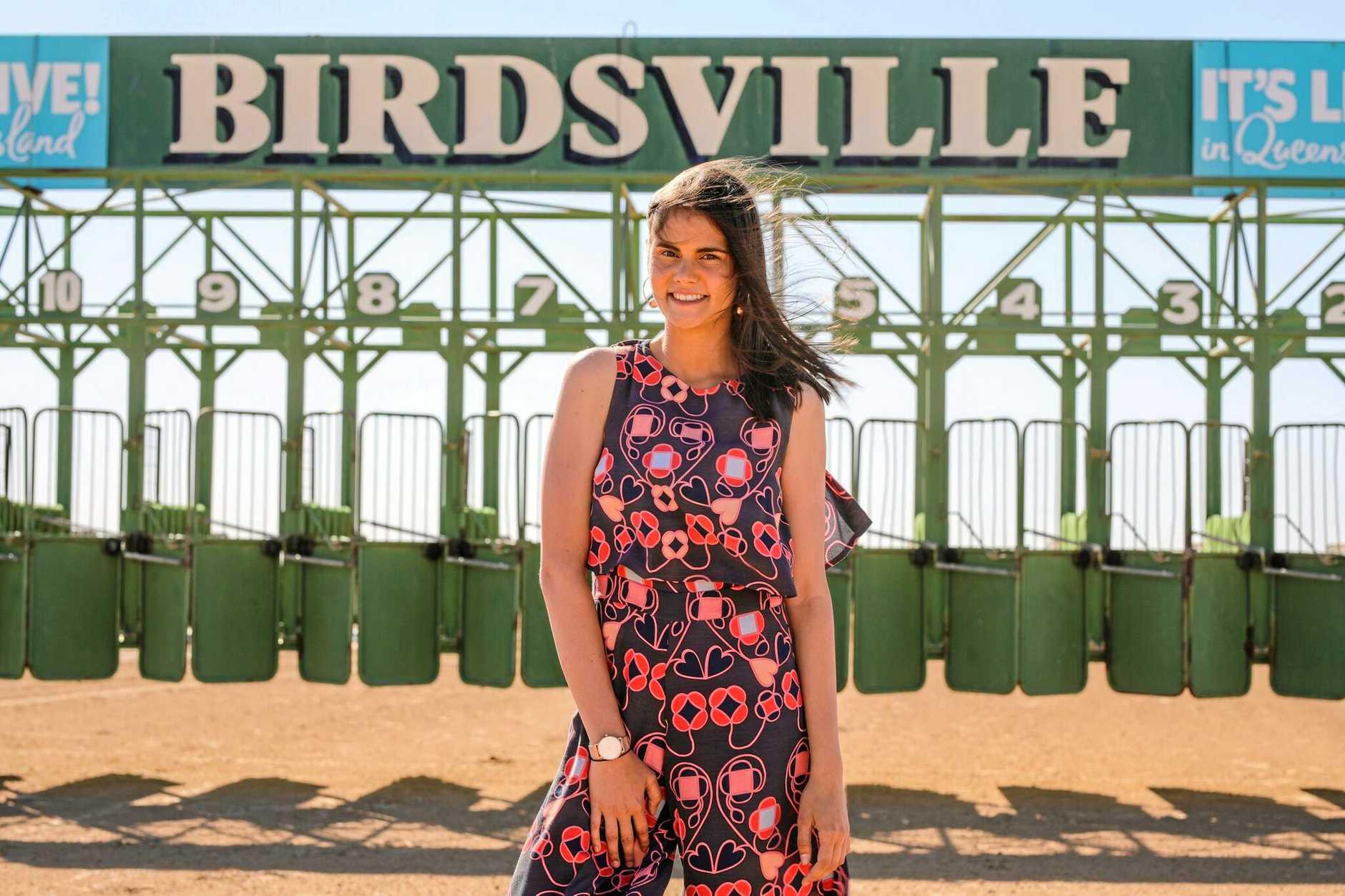 Venessa Harris at the 2018 Birdsville Races.