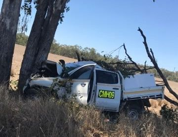 Paramedics are treating one person following a car crash at Monto