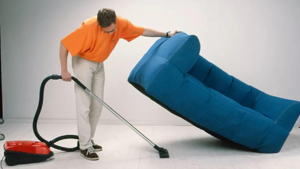 The a.i.r. sofa was easy to pick up one handed while vacuuming.