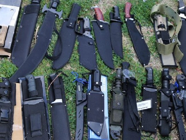 Police have seized a massive cache of weapons in Richmond in Sydney's north west. Picture: NSW Police Force