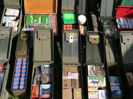 More than 2000 rounds of ammunition was confiscated in the raid. Picture: NSW Police Force