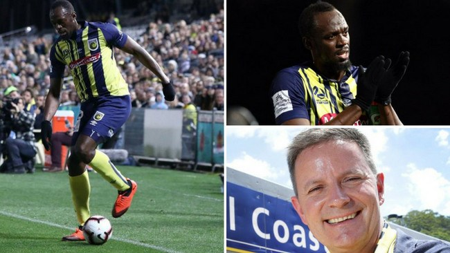 Usain Bolt has put the spotlight on the Central Coast Mariners and millionaire owner Mike Charlesworth