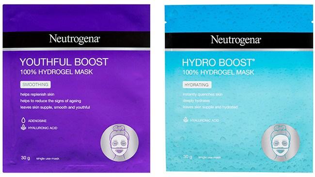The Neutrogena Youthful and Hydro Boost sheet masks.