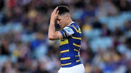 Mitchell Moses had a tough night out for the Eels. Picture: AAP