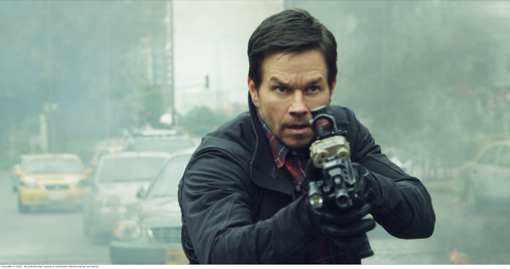 Mark Wahlberg in a scene from Mile 22.
