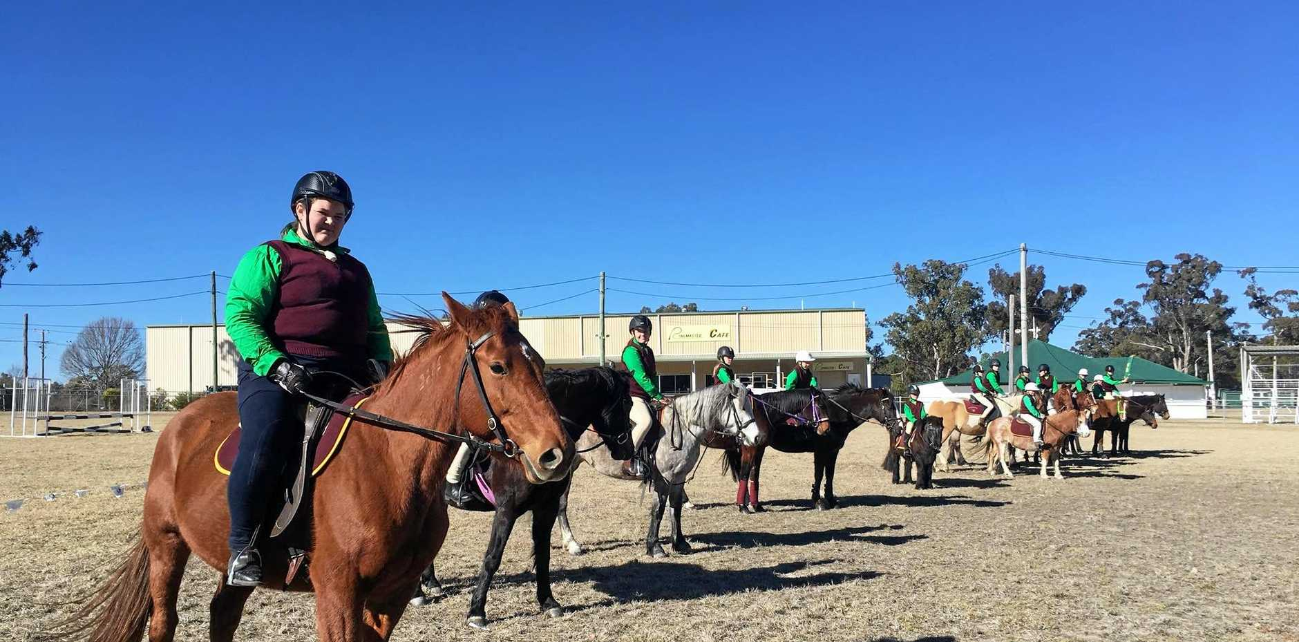 Riders saddled up for the Stanthorpe Gymkhana.