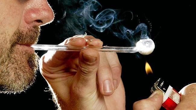 Smoking drugs.
