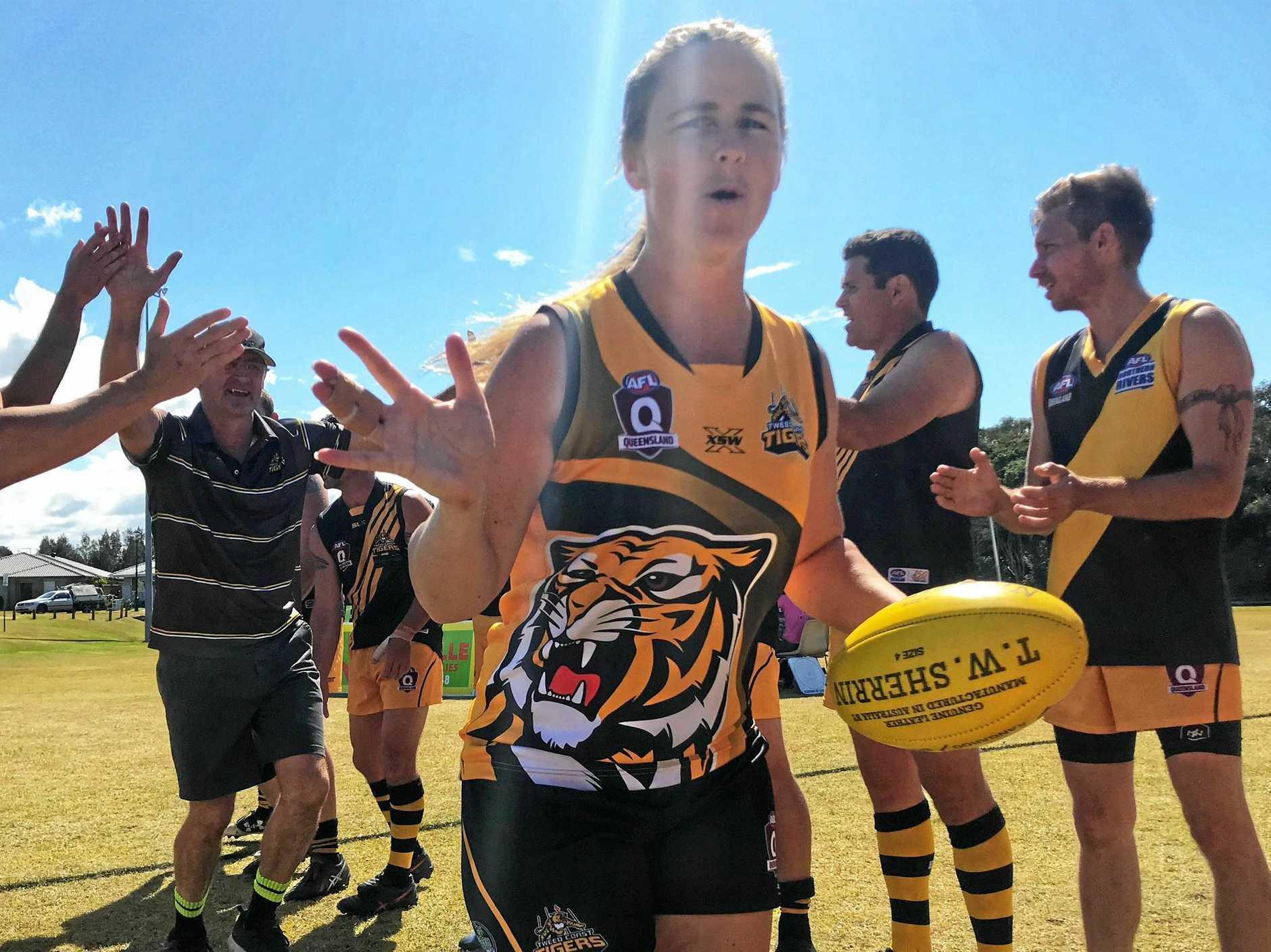 Amy Ella kicked four goals in the Tigresses' semi final win over Byron.