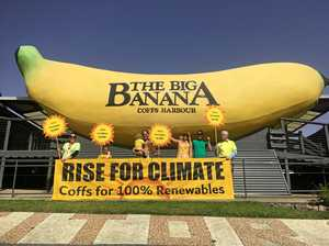 Protesters slam PM's ridicule of Big Banana and renewables