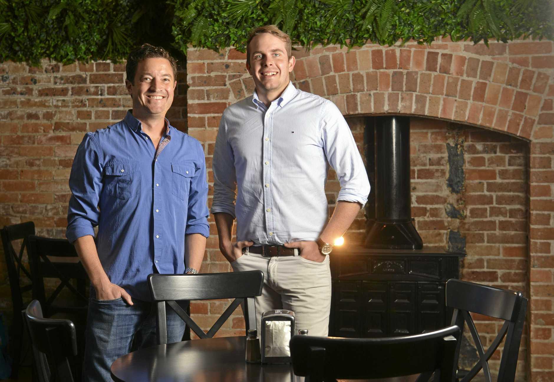 Event Manager Nate Hillig and Owner of Charlies Bar Kitchen Blake Hamlyn.