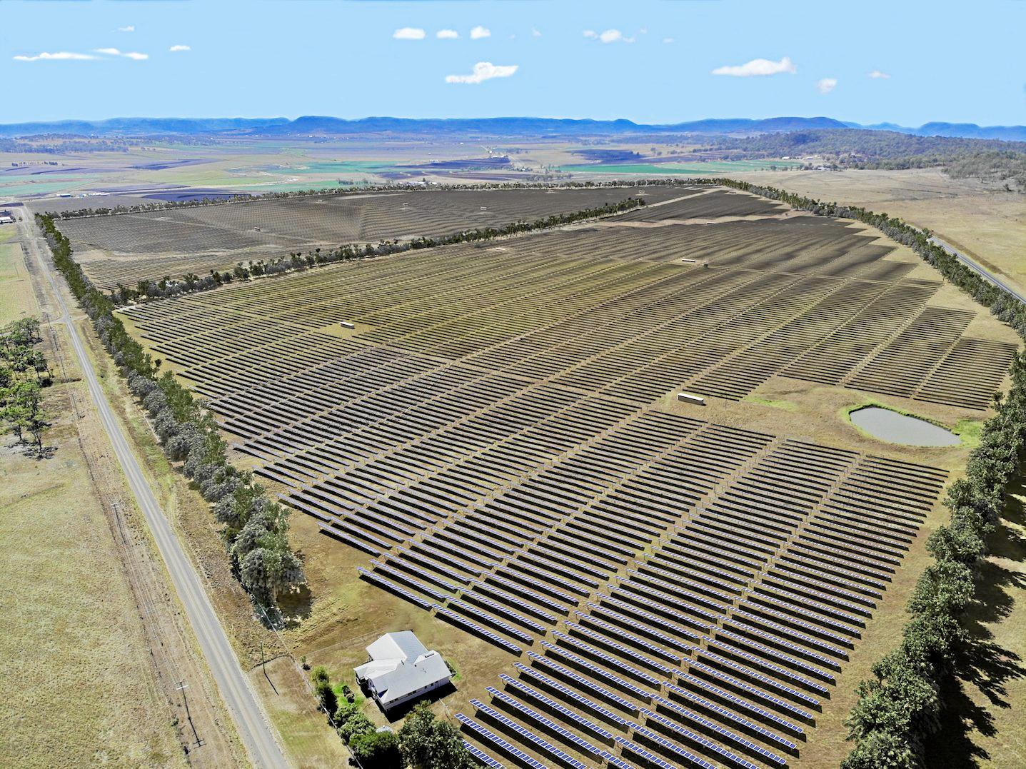 Artist's impression of the Warwick Solar Farm.