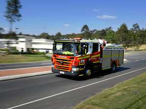 Firefighters enroute to Hay Point home blaze