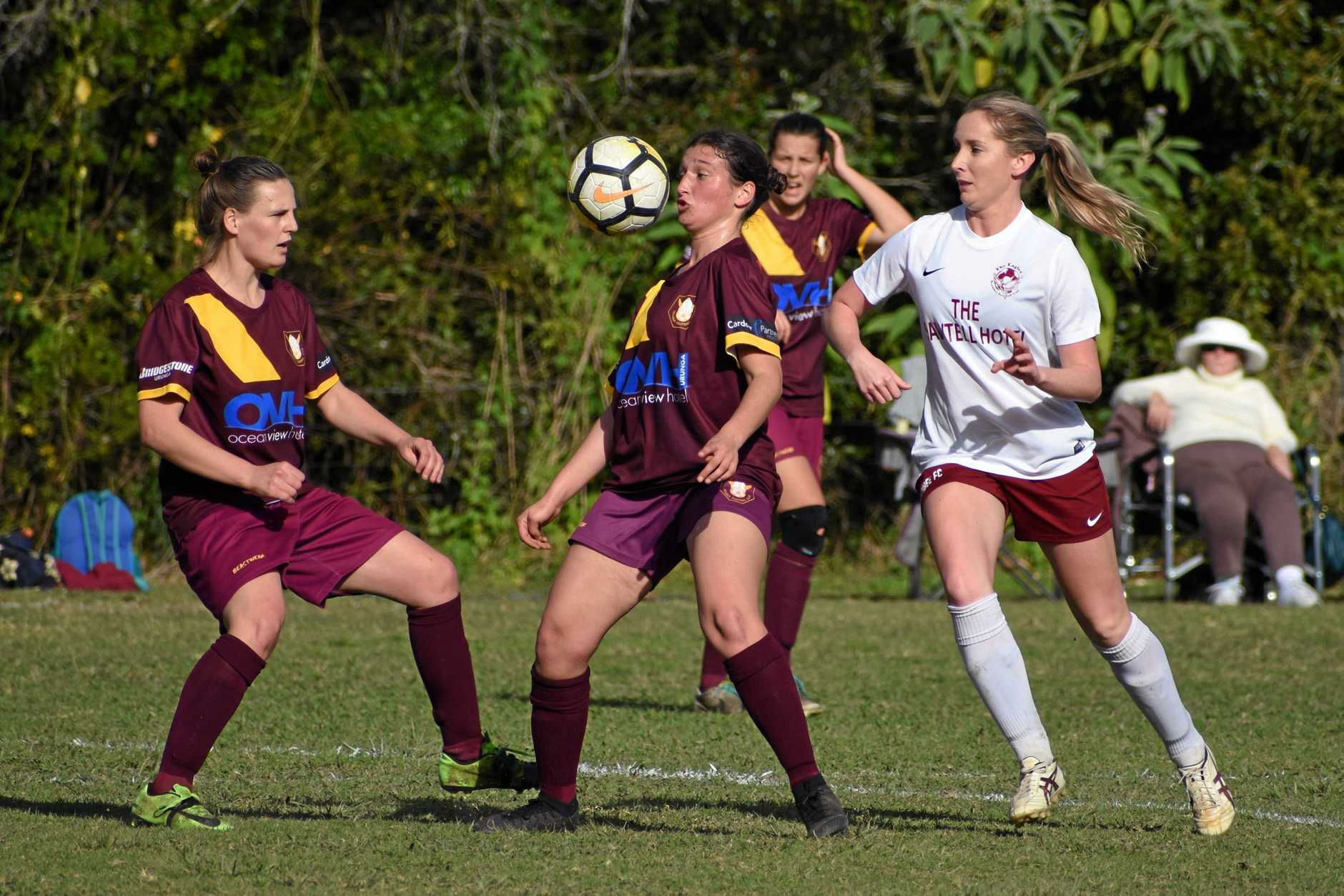 GOING FORWARD: Boambee 1 edged out Urunga 1 to be first team into the grand final.