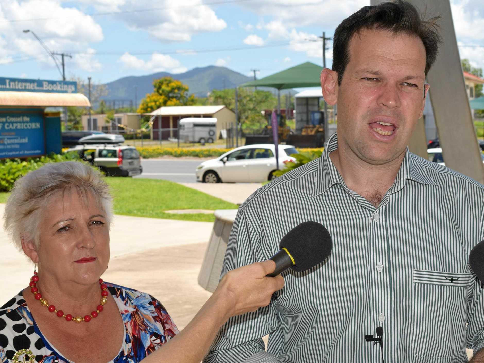 LABOR CHALLENGED: LNP's Senator Matt Canavan and Capricornia MP Michelle Landry have attacked Labor's commitment to regional roads funding.