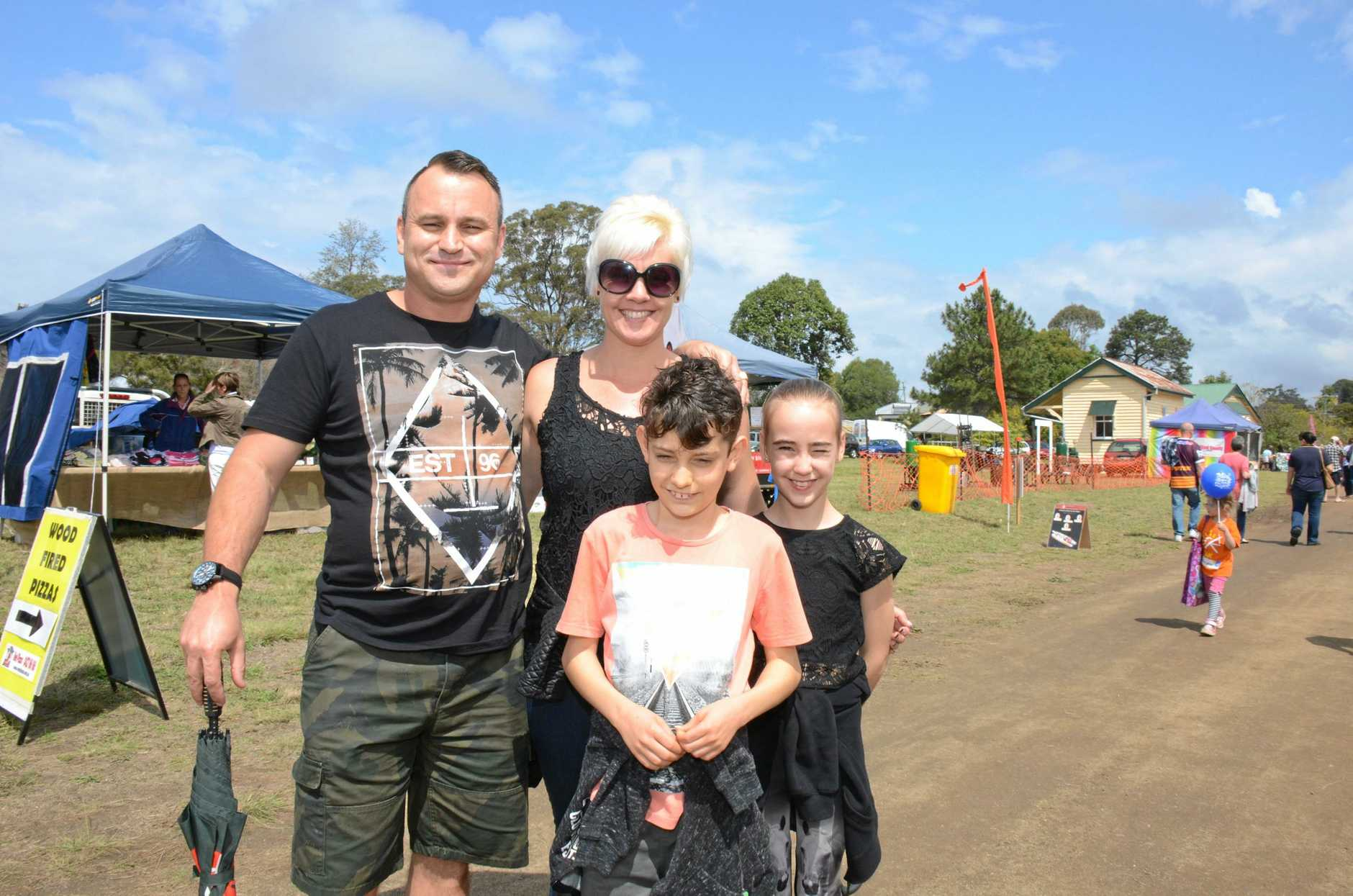 Sean, Marti, Jhett and Xanthe Dahlin at the Blackbutt Avocado Festival on September 12.