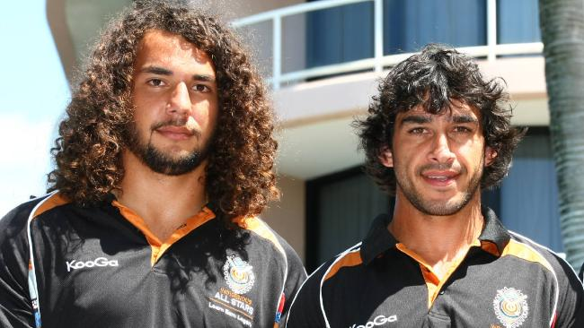 Ryan James and Johnathan Thurston at the Indigenous All-stars camp in 2011.