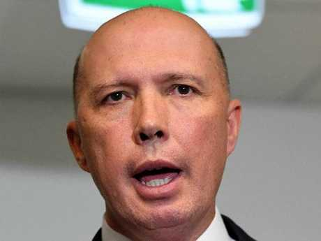 Peter Dutton has rejected claims he mislead parliament over the au pair visa saga. Picture: AAP
