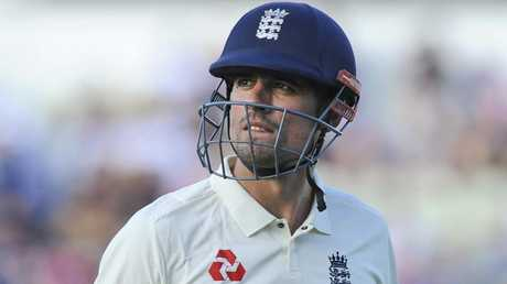 Alastair Cook will retire from international cricket at the end of the home series against India. Picture: AP