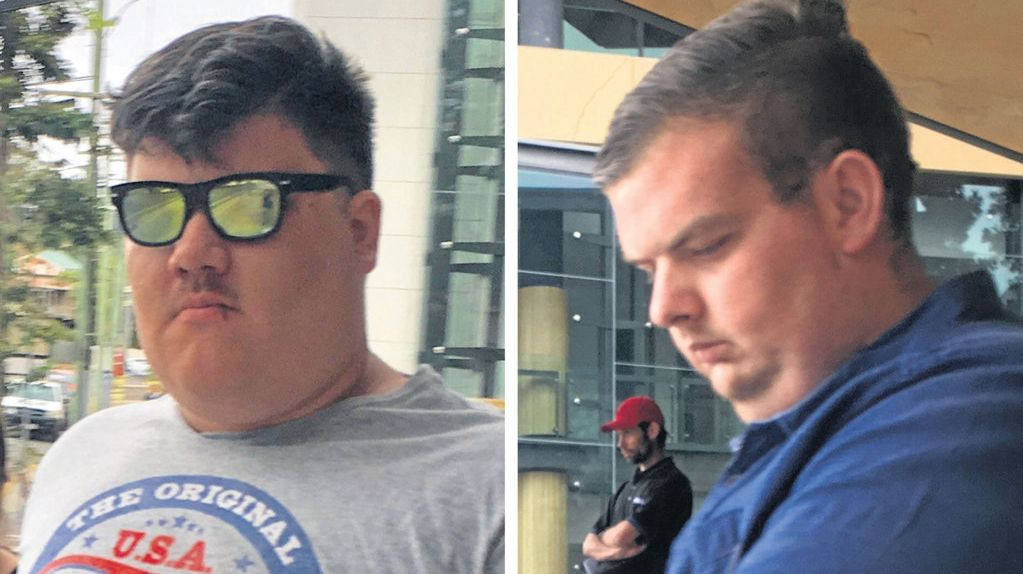 When Luke Pedrotti (left) and Joel Moore went before an Ipswich court this week.
